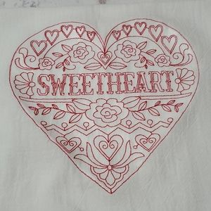 Decorative towel - sweetheart Valentine's Day
